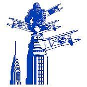 Vinilo King Kong Azul Medio Medida M