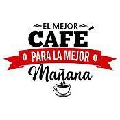 Vinilo El Mejor Café Negro, Rojo Medida M