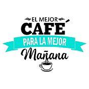 Vinilo El Mejor Café Negro, Menta Medida P