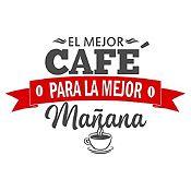 Vinilo El Mejor Café Gris Oscuro, Rojo Medida P