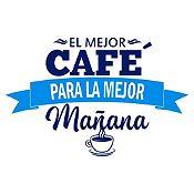 Vinilo El Mejor Café Azul Oscuro, Azul Claro Medida G