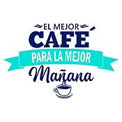 Vinilo El Mejor Café Azul Oscuro, Menta Medida P