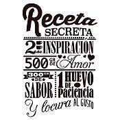 Vinilo Receta Secreta Negro Medida P