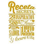 Vinilo Receta Secreta Dorado Medida M
