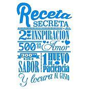 Vinilo Receta Secreta Azul Claro Medida G