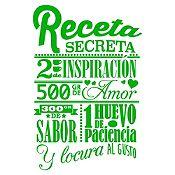 Vinilo Receta Secreta Verde Claro Medida G