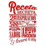 Vinilo Receta Secreta Rojo Medida P