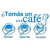 Vinilo Tomate Un Café Azul Claro Medida G