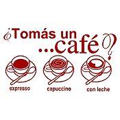 Vinilo Tomate Un Café Vinotinto Medida P