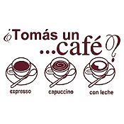Vinilo Tomate Un Café Marrón Medida G