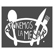 Vinilo Ponemos La Mesa Blanco Medida P