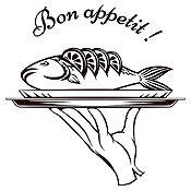 Vinilo Bon Appetit Negro Medida G