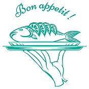 Vinilo Bon Appetit Turquesa Medida G