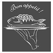Vinilo Bon Appetit Blanco Medida P
