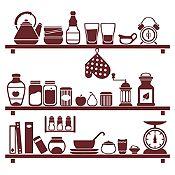 Vinilo Cocina En Orden Marrón Medida G