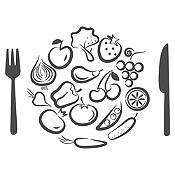 Vinilo Almuerzo De Verduras Plata Medida P