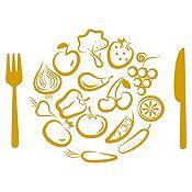 Vinilo Almuerzo De Verduras Dorado Medida M