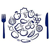 Vinilo Almuerzo De Verduras Azul Oscuro Medida M