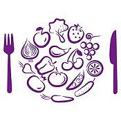 Vinilo Almuerzo De Verduras Morado Medida G