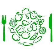 Vinilo Almuerzo De Verduras Verde Claro Medida P