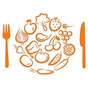Vinilo Almuerzo De Verduras Naranja Medida M