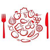 Vinilo Almuerzo De Verduras Rojo Medida M