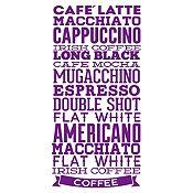 Vinilo Tipos De Café Morado Medida G
