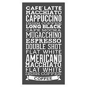 Vinilo Tipos De Café Blanco Medida M