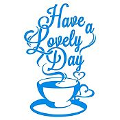 Vinilo Have A Lovely Day Azul Claro Medida M