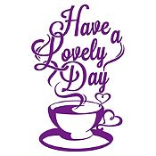Vinilo Have A Lovely Day Morado Medida M