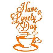 Vinilo Have A Lovely Day Naranja Medida M
