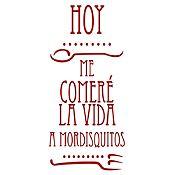 Vinilo Hoy Me Comeré La Vida Vinotinto Medida M