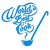 Vinilo Mejor Cocinera Del Mundo Azul Claro Medida M