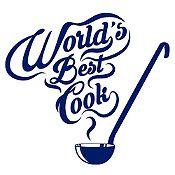 Vinilo Mejor Cocinera Del Mundo Azul Oscuro Medida M
