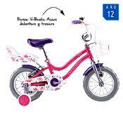 Bicicleta Infantil Beauty Fucsia Aro 12