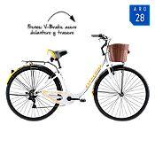 Bicicleta Mujer Cyclotour Blanco/Naranja Aro 28