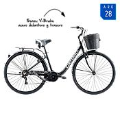 Bicicleta Mujer Cyclotour Negro Aro 28