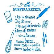 Vinilo Nuestra Receta Azul Claro Medida P