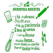 Vinilo Nuestra Receta Verde Claro Medida M