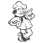 Vinilo Chef Plata Medida G