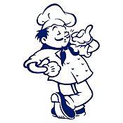 Vinilo Chef Azul Oscuro Medida M