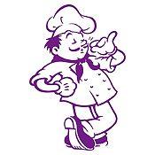 Vinilo Chef Morado Medida G