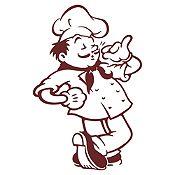 Vinilo Chef Marrón Medida G