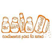 Vinilo Condimentos Naranja Medida P