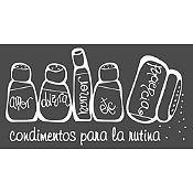 Vinilo Condimentos Blanco Medida M
