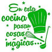 Vinilo En Esta Cocina Verde Claro Medida P