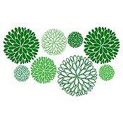 Vinilo Explosión de Hojas 1 Verde Oscuro, Verde Claro Medida M