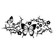 Vinilo Mariposas 1 Negro Medida P