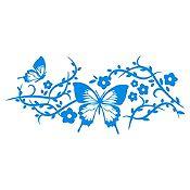 Vinilo Mariposas 1 Azul Claro Medida P