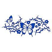 Vinilo Mariposas 1 Azul Medio Medida M